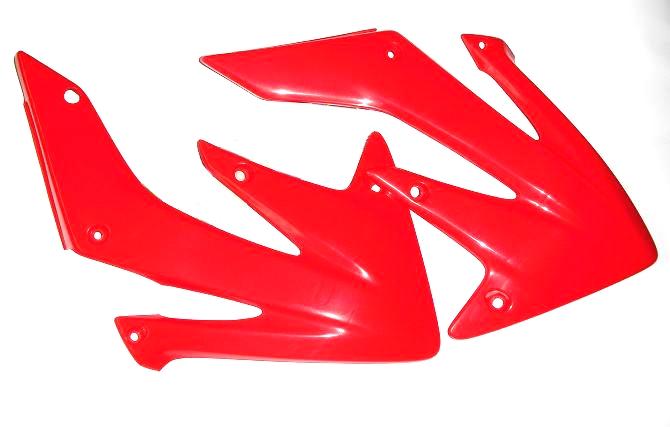 aletas tanque honda crf 250 04/09 250x 04/16 rojo new ufo