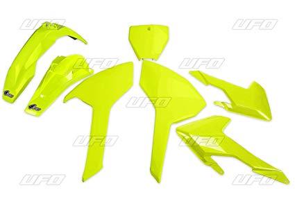 kit plasticos husqvarna tc fc 125 250 300 350 450 2016-2017 (no tc 250 2016) amarillo fluo ufo