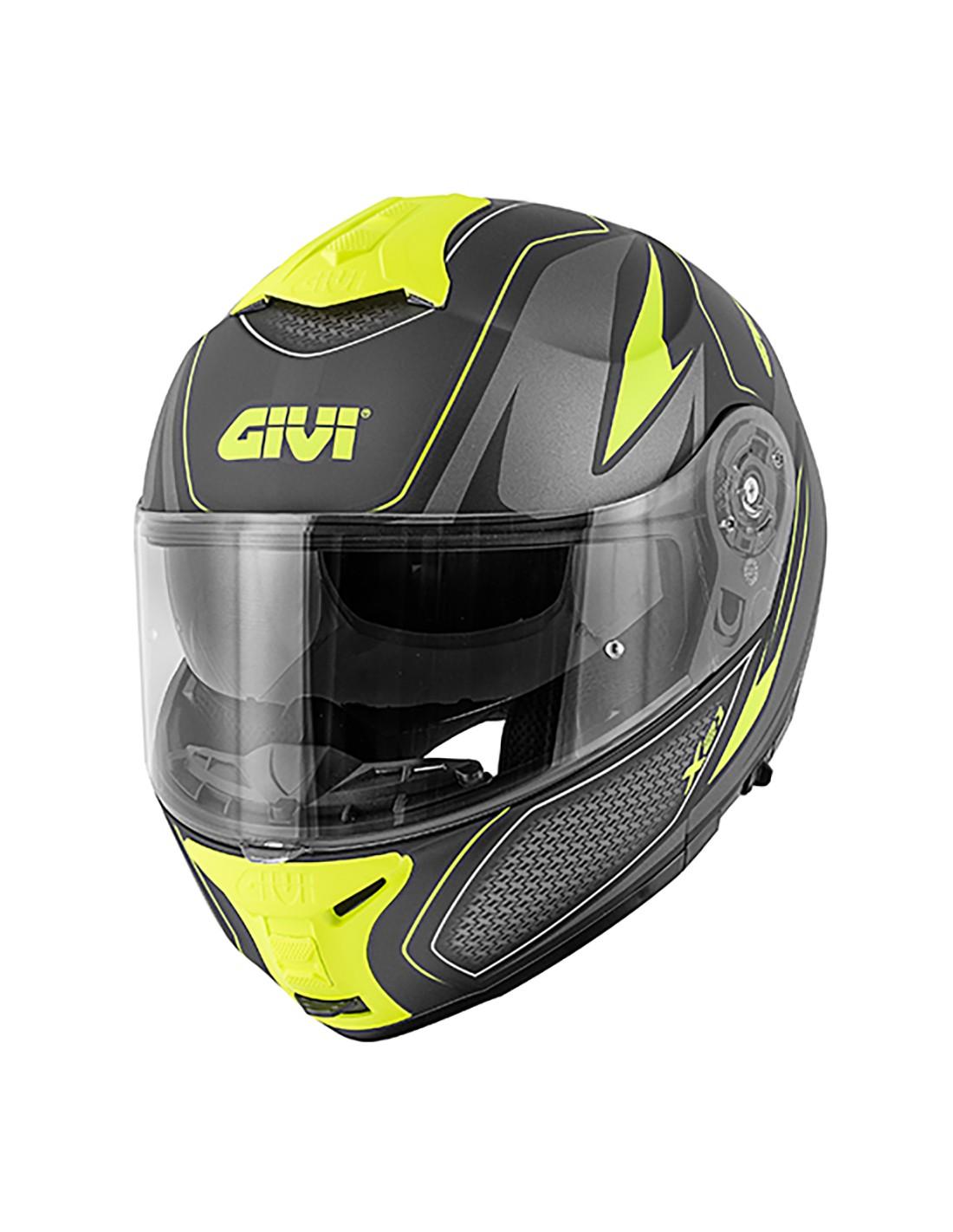 casco givi x21 challenger negro/gris/fluo talle m