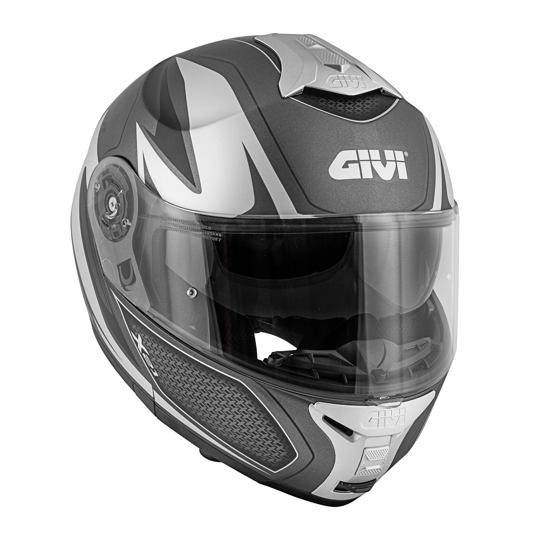casco givi x21 challenger plateado mate talle m