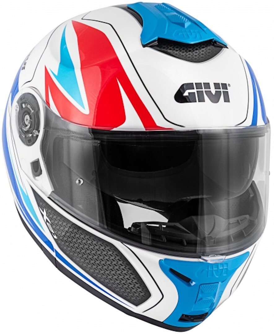 casco givi x21 challenger blanco/azul/rojo talle m