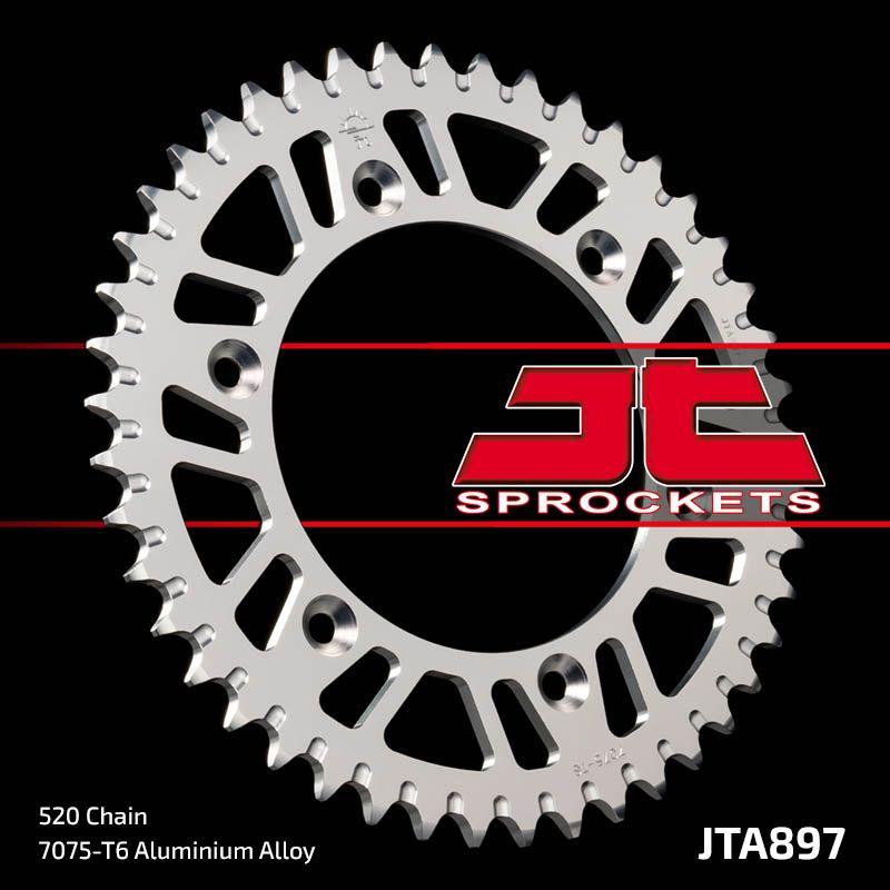 corona jt ktm 125/250/300/360/620 aluminio 48 dientes