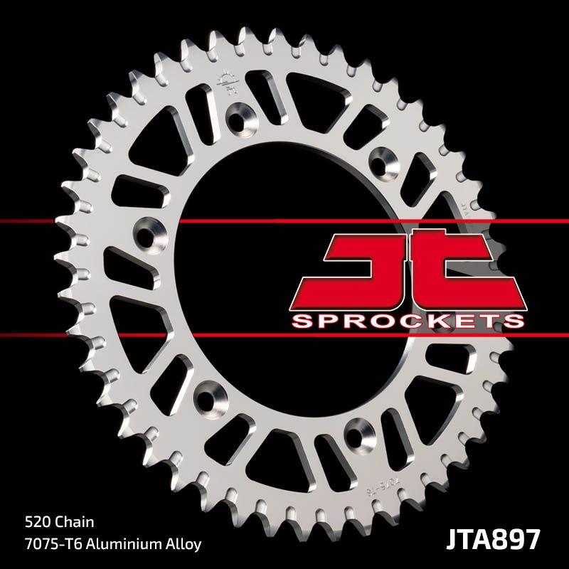 corona jt ktm 125/250/300/360/620 aluminio 50 dientes