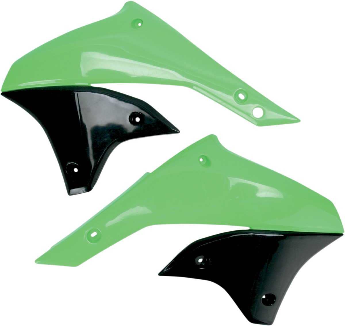 aletas tanque kawasaki klx 450 07/09 verde ufo