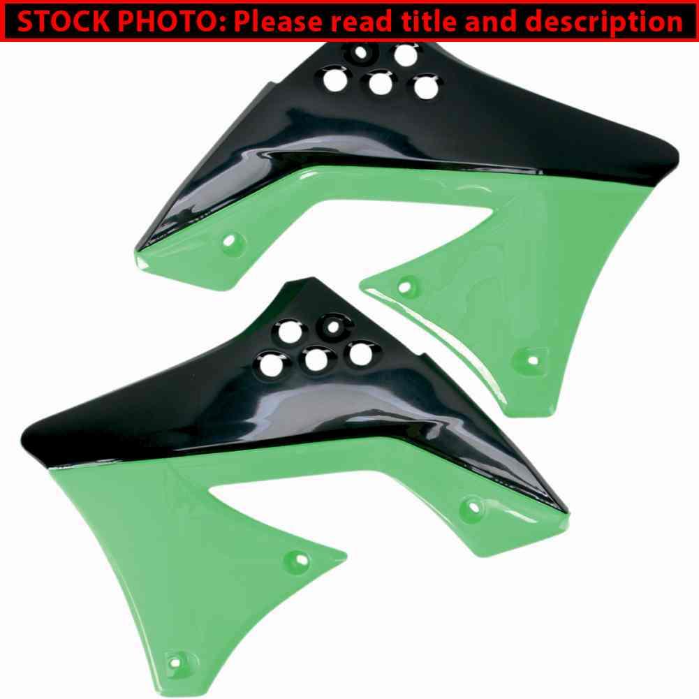 aletas tanque kawasaki kxf 250 10/11 negra/verde ufo