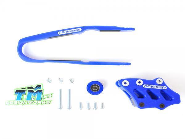kit guia + desliza cadena TM kawasaki kxf 160 up dirtcross azul
