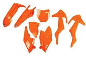 kit plasticos ktm sx sxf 2016-2017 (no sx 2016) naranja fluo ufo