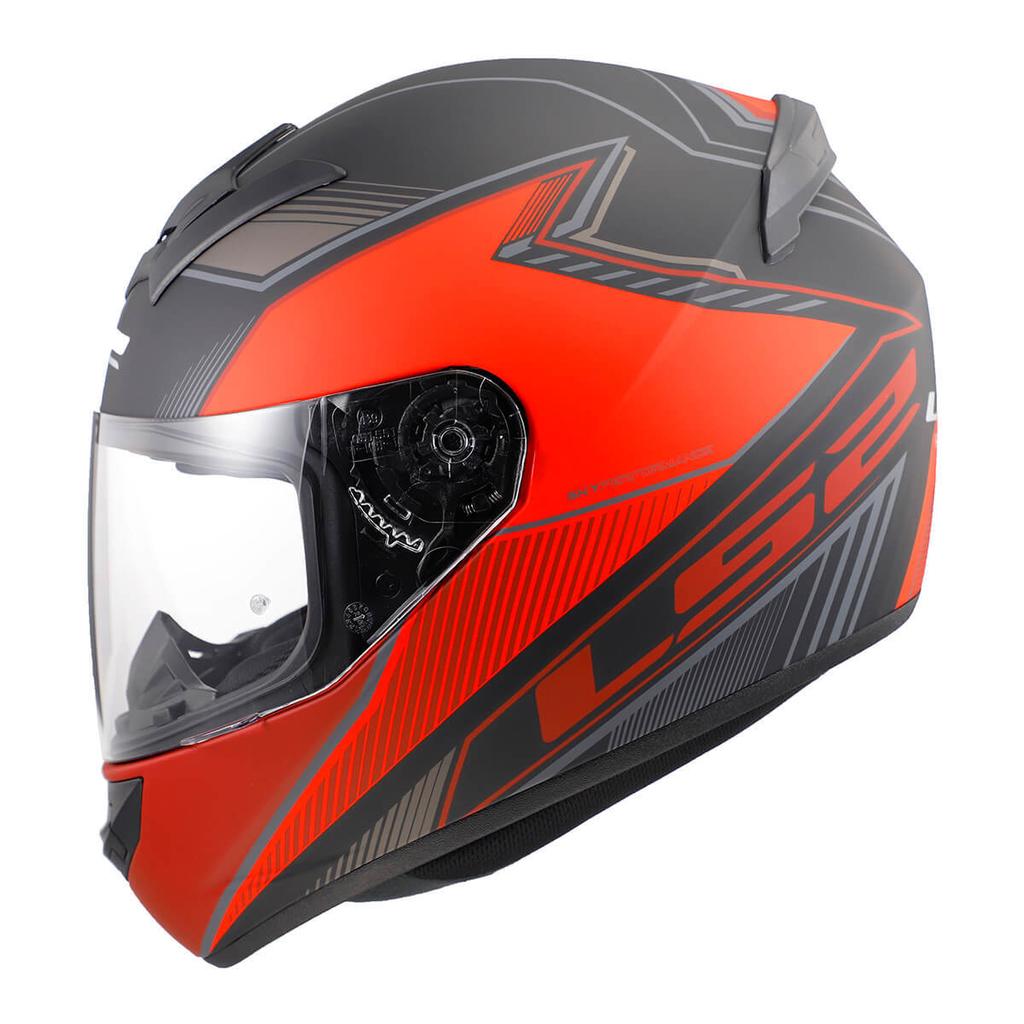 casco ls2 rookie kascal matt negro/rojo talle L