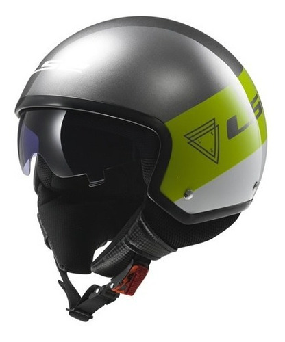 casco ls2 of561 wave beat green fluo t.XL (60cm)