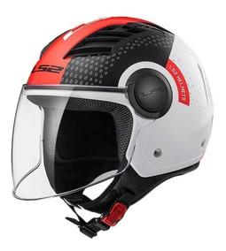 casco ls2 off562 airflow condor white black red t.XL (60cm)