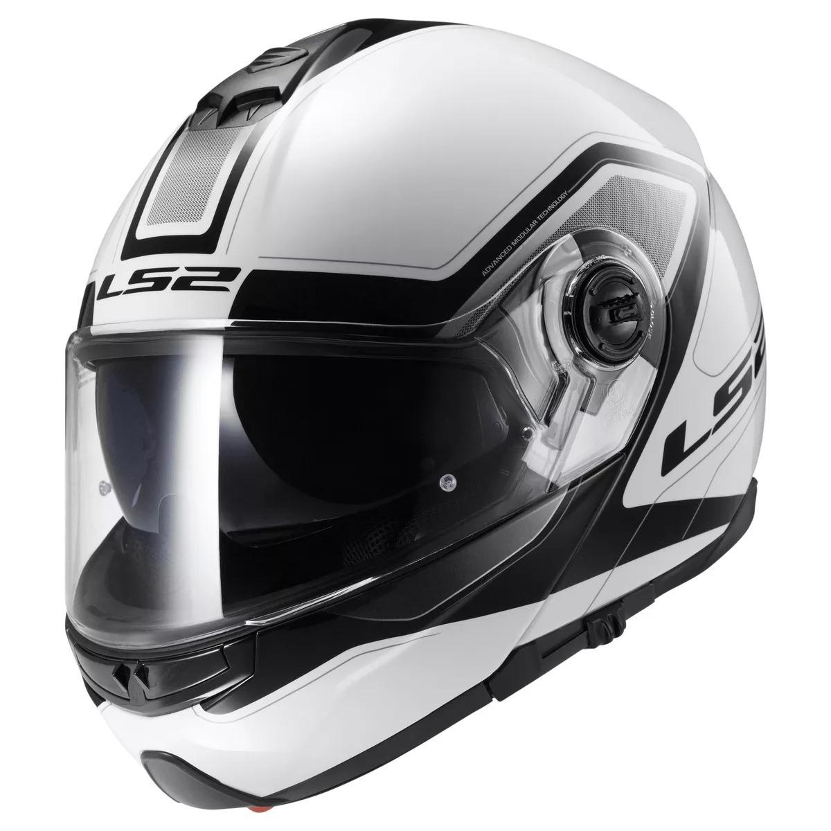 casco ls2 325 strobe civik blanco talle l (59-60cm)