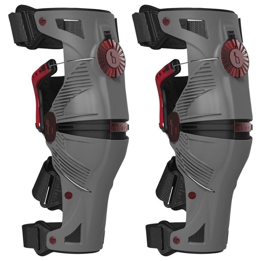 rodillera mobius x8 negra/rojo Talle s