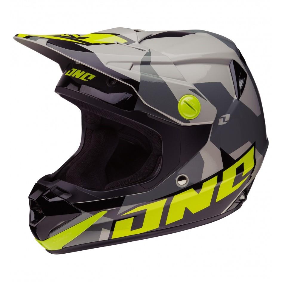 casco ONE verde/negro talle l (59-60cm)