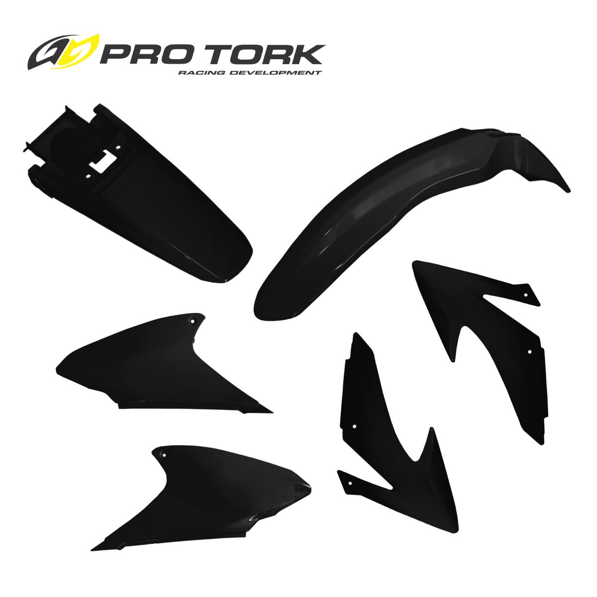 kit plasticos honda crf 230 pro tork negro