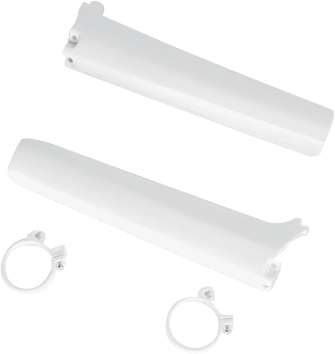 cubre barrales suzuki rm 125/250 92/93 blanco ufo
