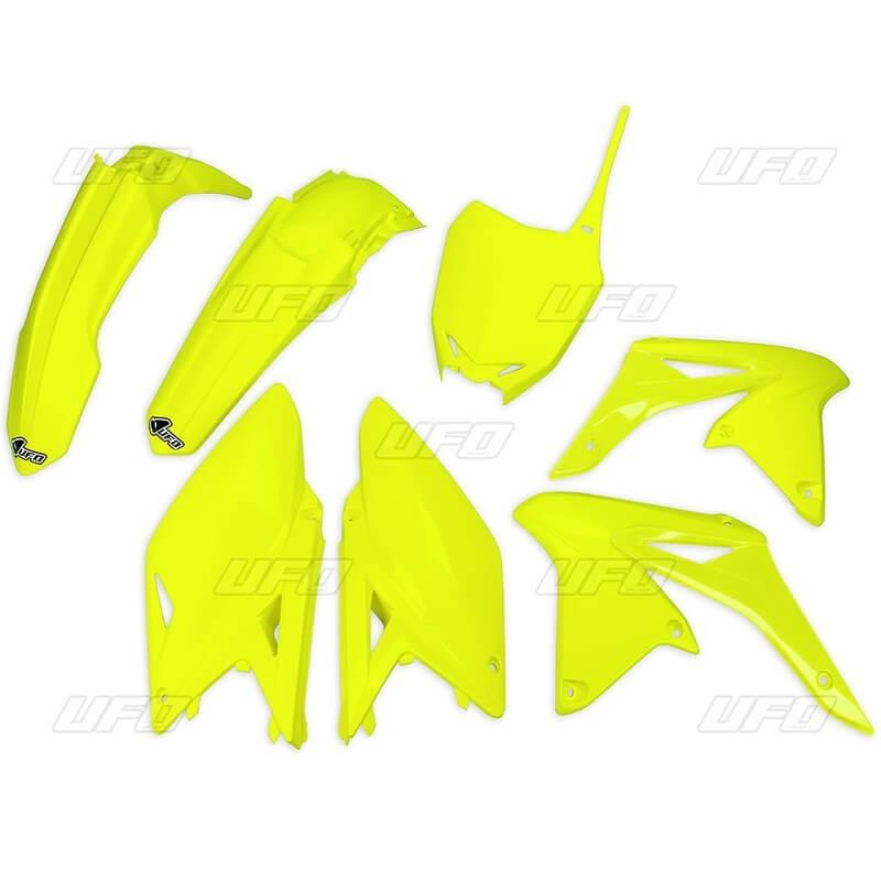 kit plasticos suzuki rmz 250 2017 amarillo fluo ufo