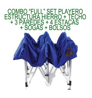 estructura set playero 2x3 hierro azul 3h