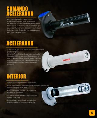 acelerador wirtz honda cr 125-250 89/07 con ruleman interno