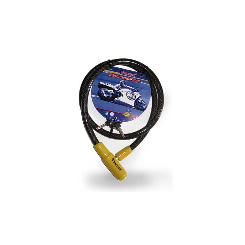 linga cable de acero - recubierta c/pvc - 2 llaves tubulares15mmx 1200mm (x20)