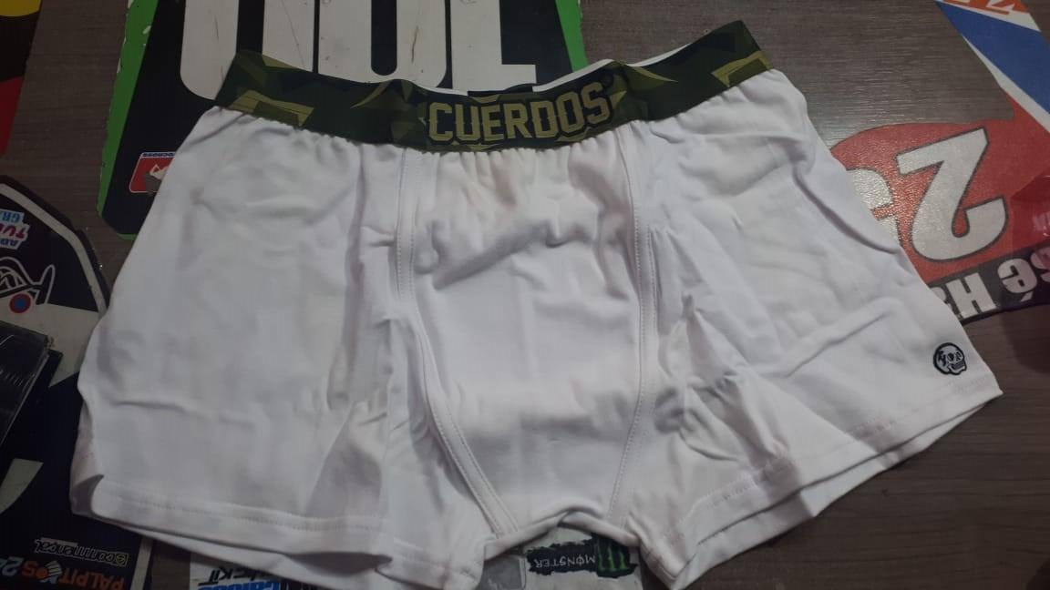 boxer cuerdos blanco/camo talle l