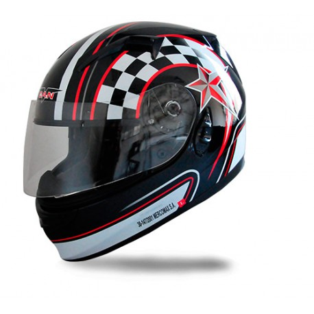 casco v-can full face v122 w/sun glasses black ll w-e talle m (57-58cm)