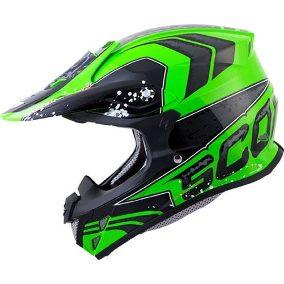 casco scorpion vx-r70 verde fluor talle m (57-58cm)