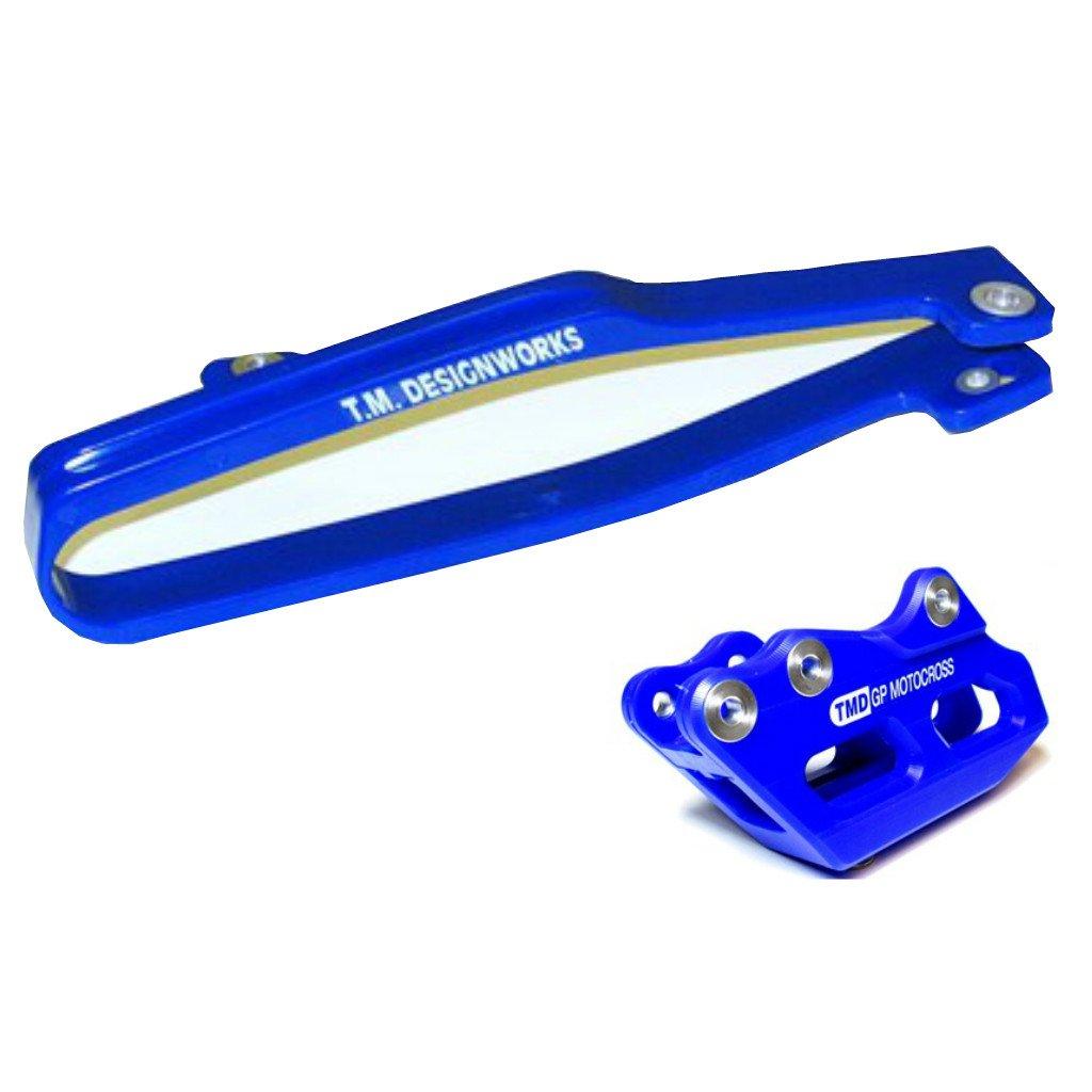 kit guia + desliza cadena TM yamaha yzf 250 450 07/08 GP azul
