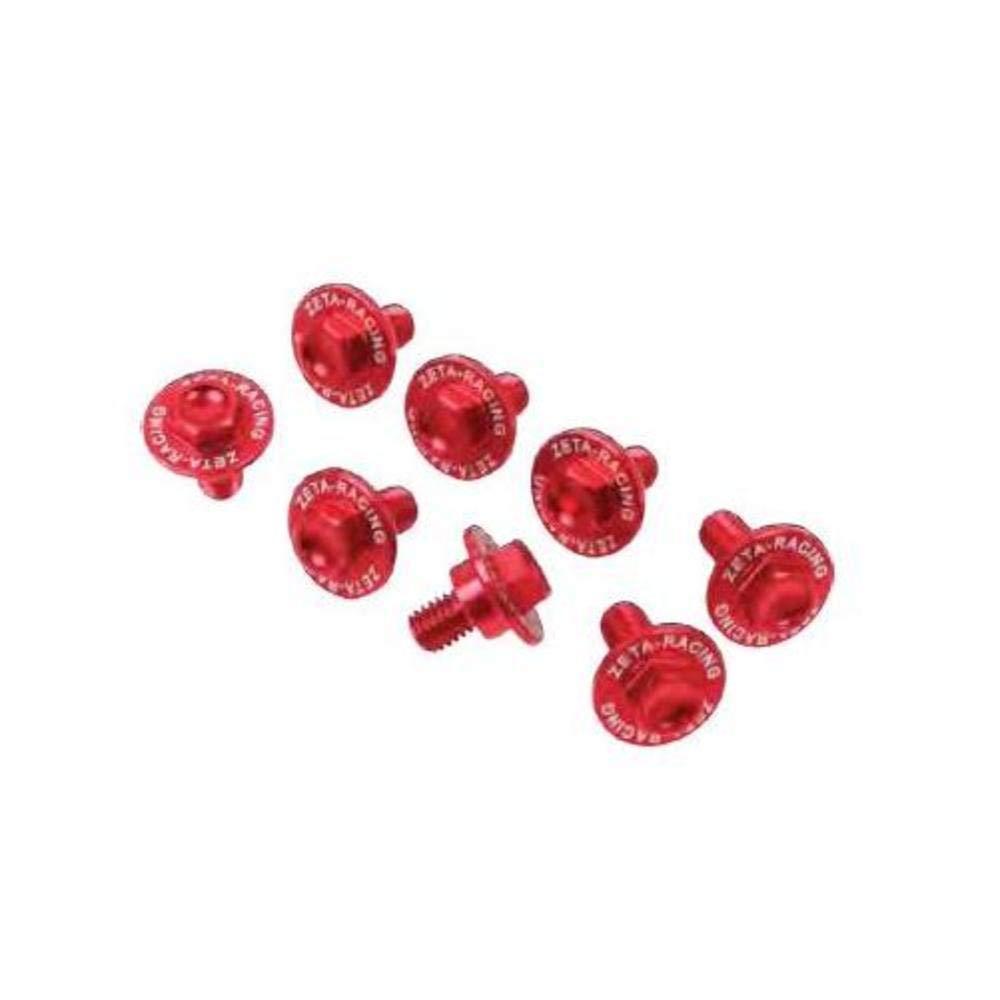 tornillo aluminio p/ horquilla (8pcs) crf 02/18 rojo zeta kit